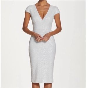 Dress the Population white sequin dress -Small